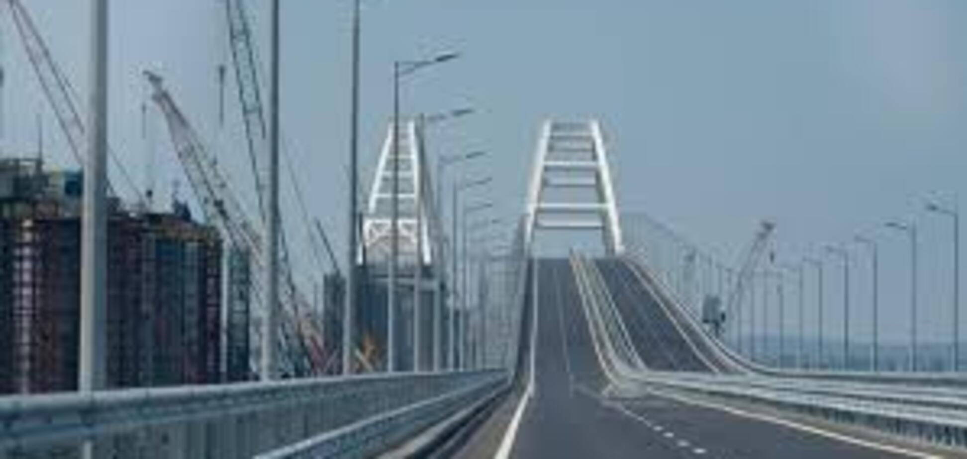 'Точно впаде': росЗМІ розповіли про проблеми із Кримським мостом