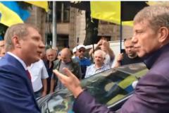 На митинге шахтеров в Киеве произошла потасовка между министром и нардепом