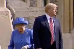 Трамп наплевал на манеры в Великобритании, Меланья не отставала от мужа