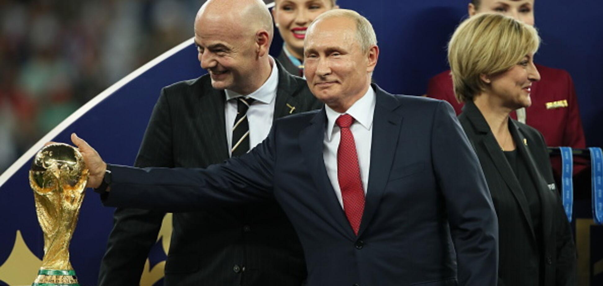 Путіну не дали вручити Кубок світу ФІФА: опубліковано відео