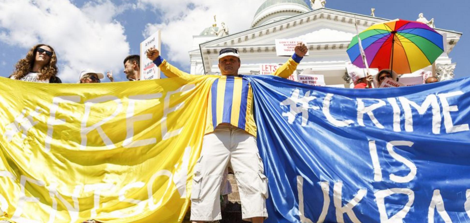 'Слава Україні!' У Гельсінкі спалахнули протести через зустріч Трампа з Путіним