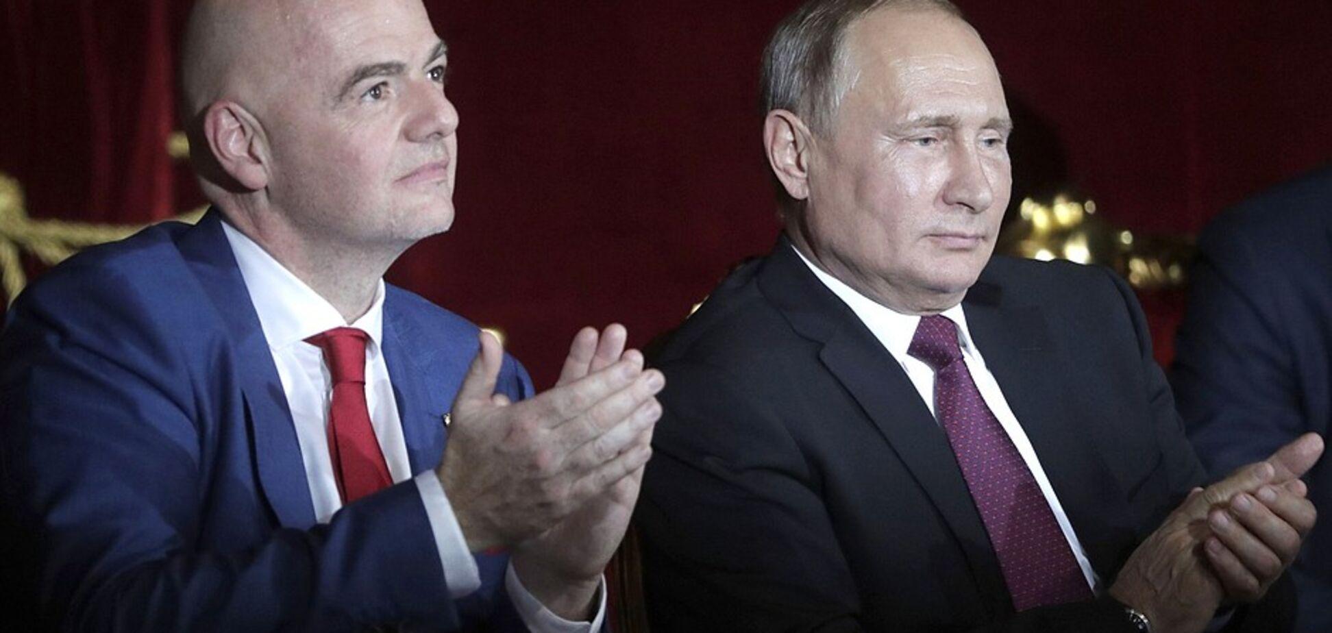 Президента ФІФА висміяли за безглузде захоплення Росією перед Путіним
