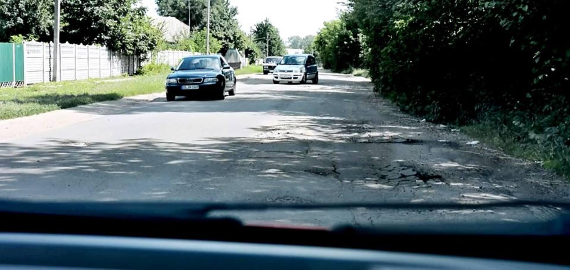'Це пекло!' У мережі показали 'ризиковану' трасу під Києвом