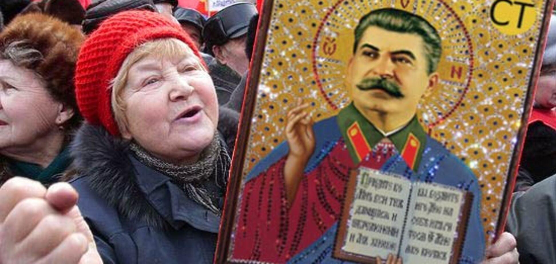 'С иконами за Сталина': историк высмеял 'шизофрению' россиян