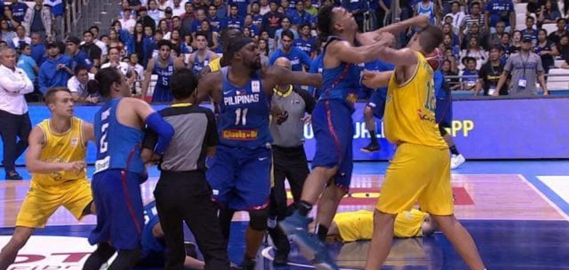 Треш дня: справжня бійня сталася в матчі збірних Філіппін і Австралії з баскетболу