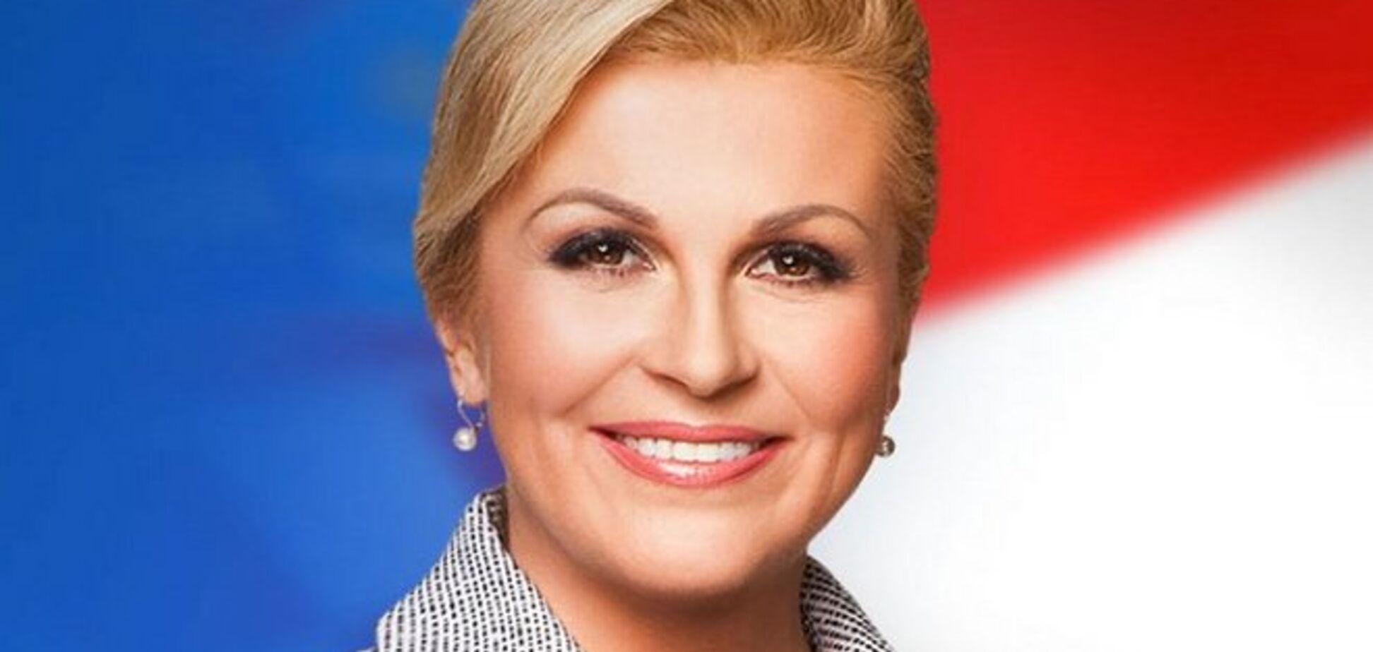 Президент Хорватии Колинда Грабар-Китарович: 'Фельдмаршал'