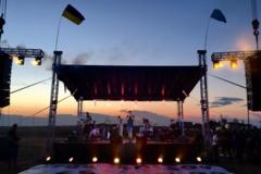 Выступление 'Бумбокс' на границе с Крымом