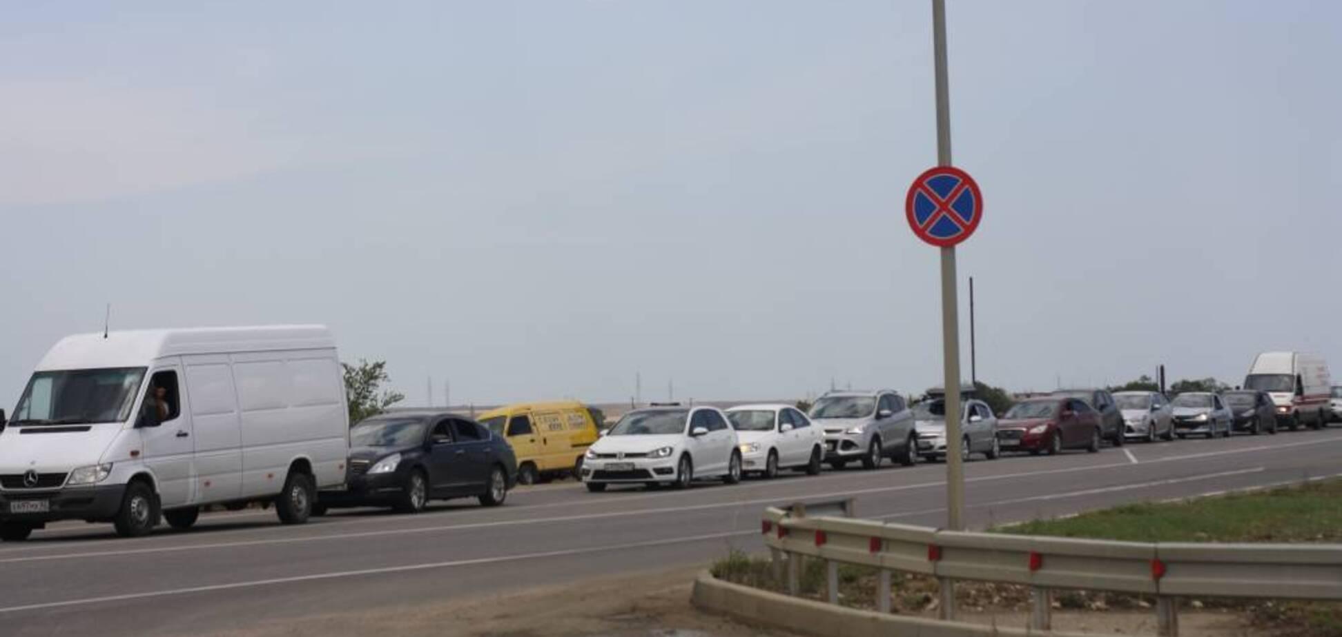 Пробка на 15 км: 'ихтамнеты' парализовали Крым