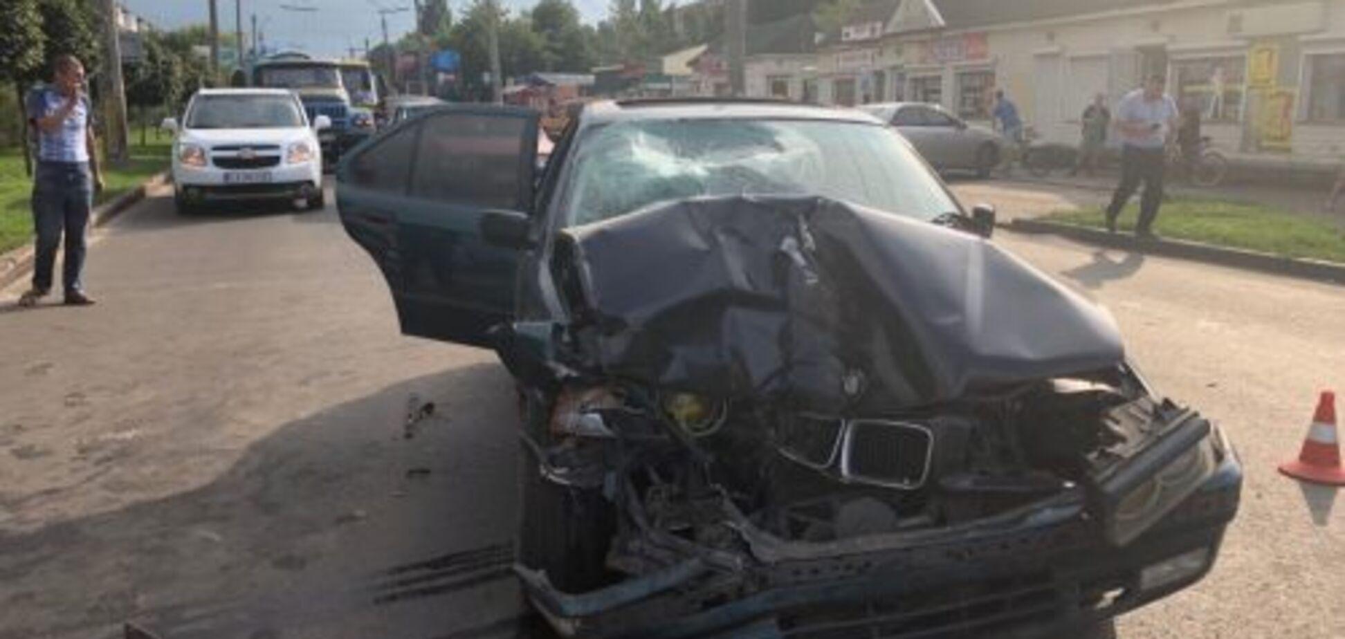 Жуткая авария в Черкассах: водитель на тротуаре задавил мать с ребенком