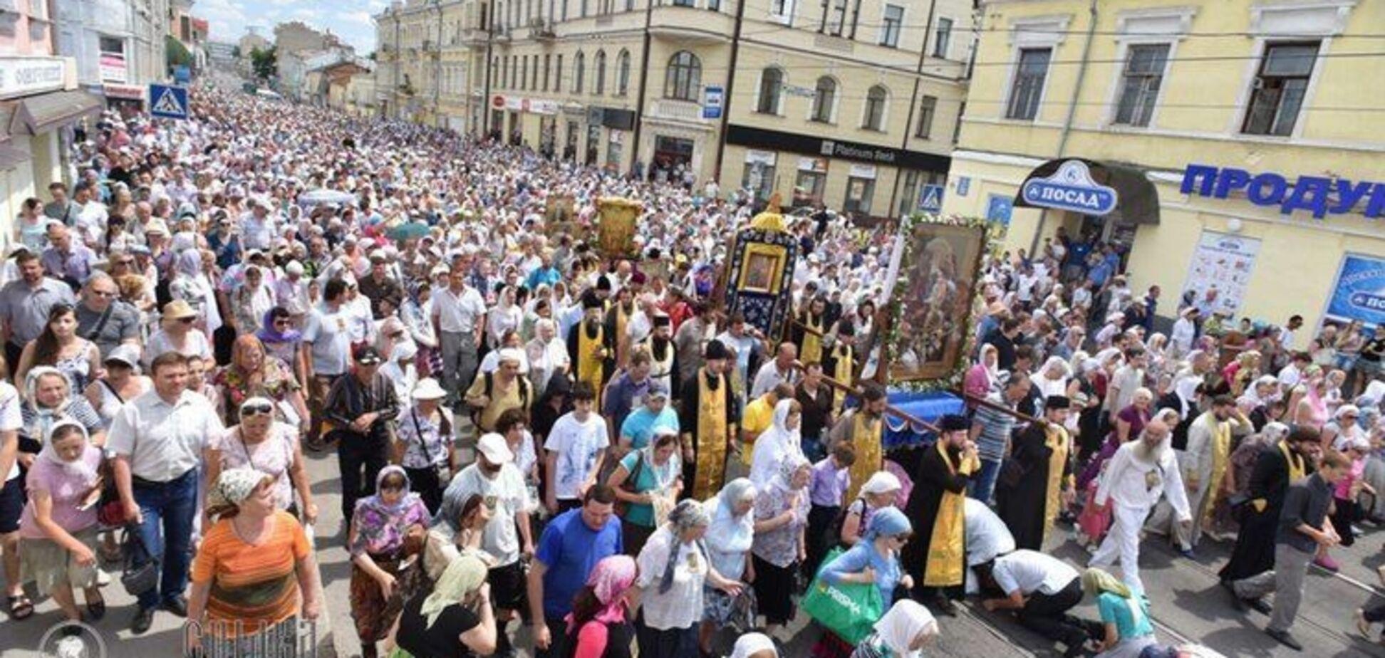 Хресна хода: УПЦ МП везе до Києва 'делегацію' з 'ДНР'