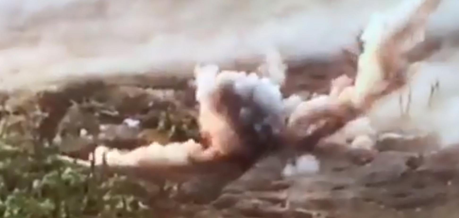 ЗСУ знищили бліндаж окупантів: смерть терористів потрапила на відео