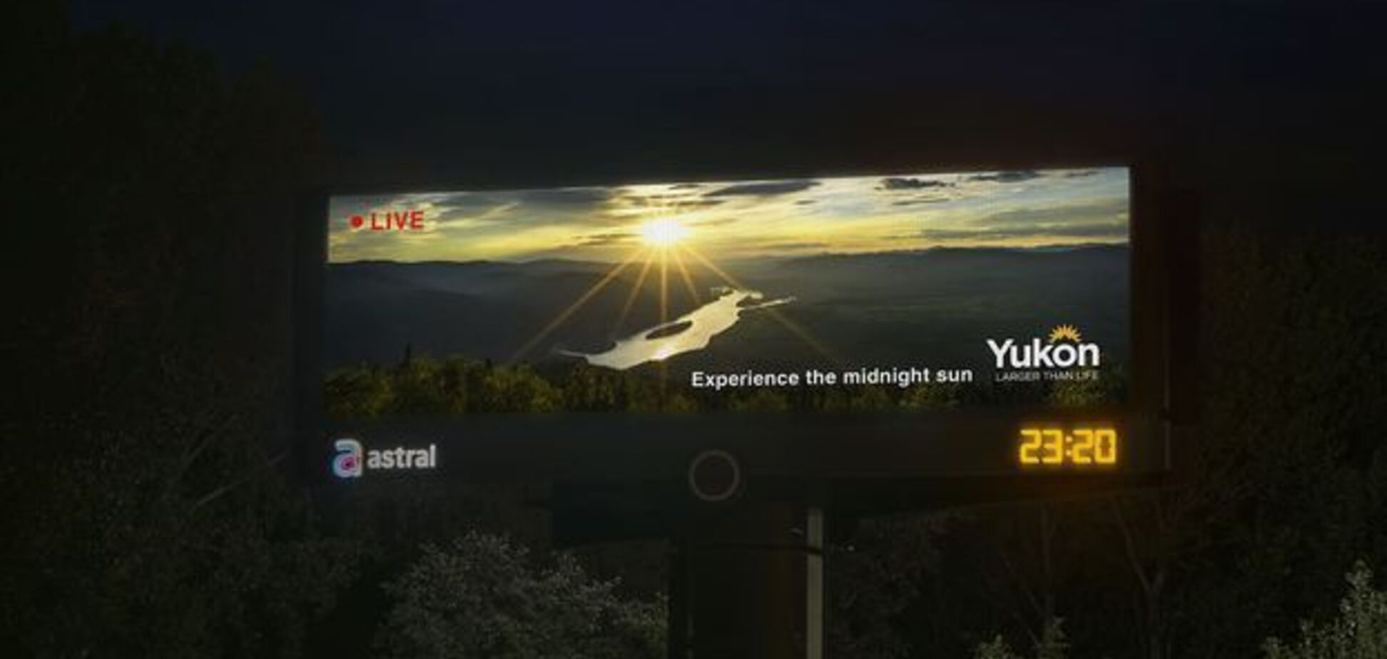 Трансляція з-за полярного кола: в Канаді з'явився дивний білборд