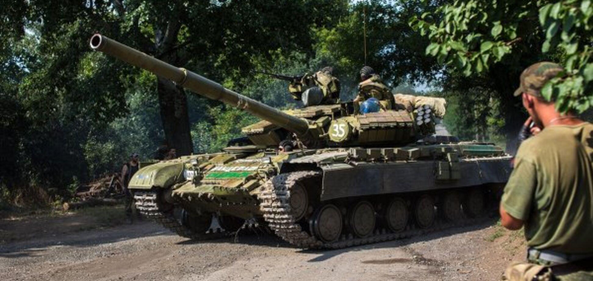 Угробили танк: терористи 'Л/ДНР' зганьбилися на навчаннях