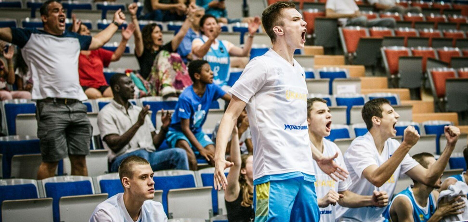 Україна здобула вольову перемогу на Євробаскеті U-18