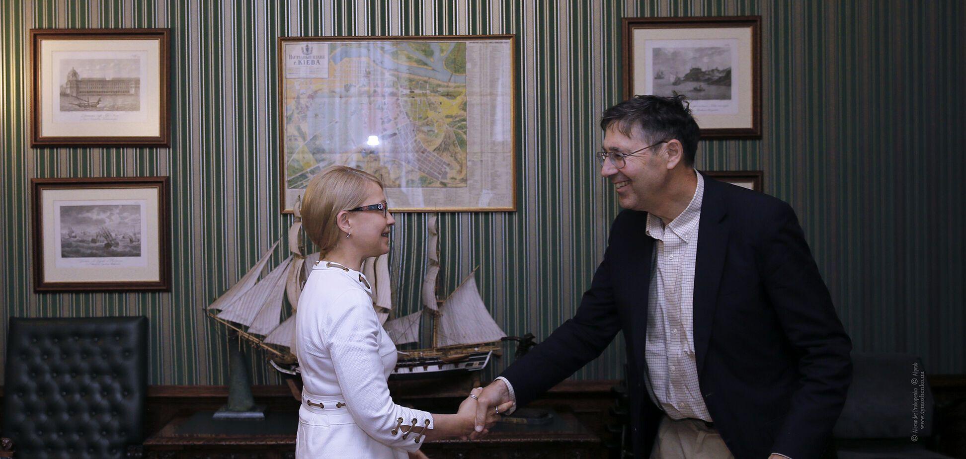 Юлія Тимошенко обговорила з послом Хербстом, як тиснути на Росію
