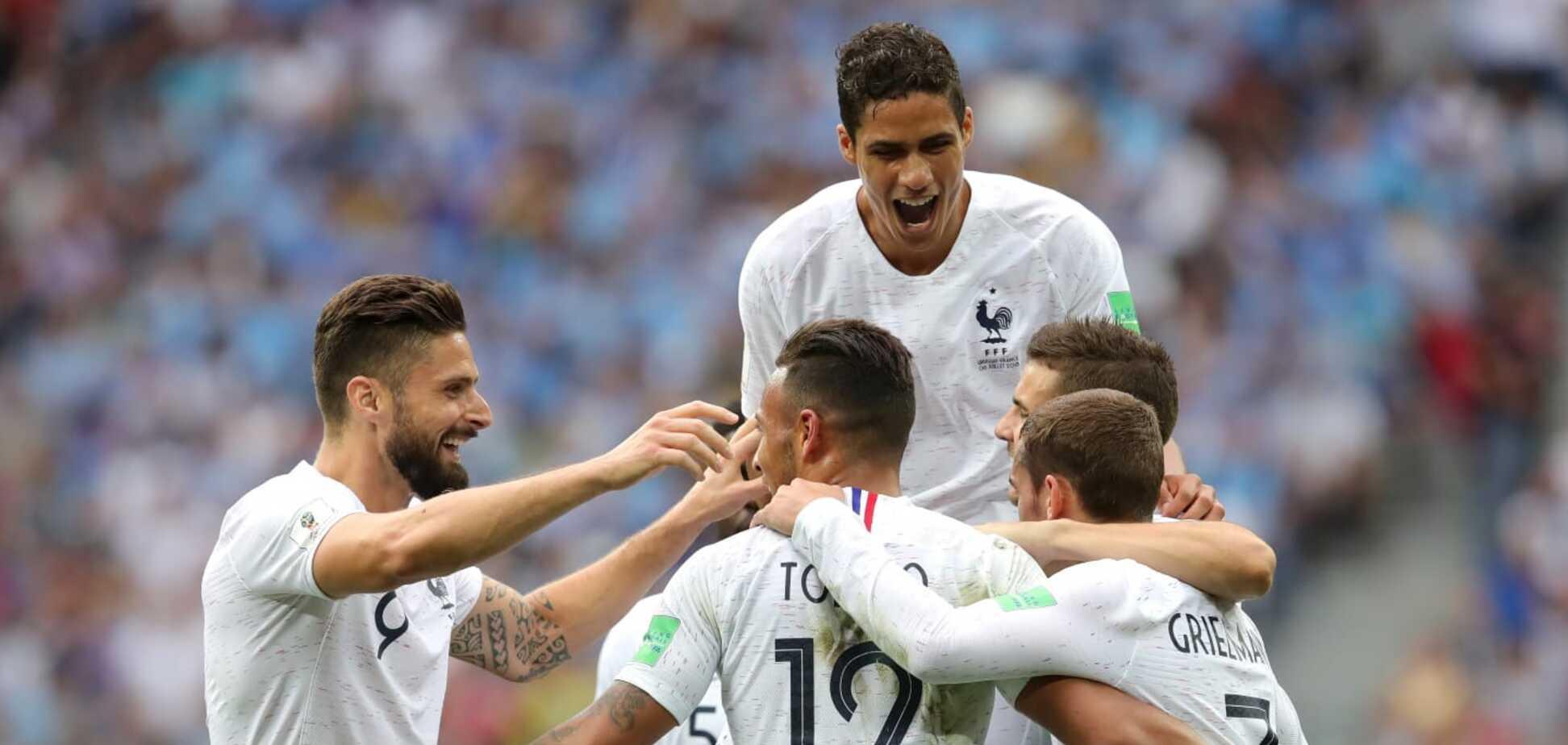 Голи Варна та Грізманна вирішили долю матчу Уругвай - Франція: онлайн-трансляція 1/4 фіналу ЧС-2018