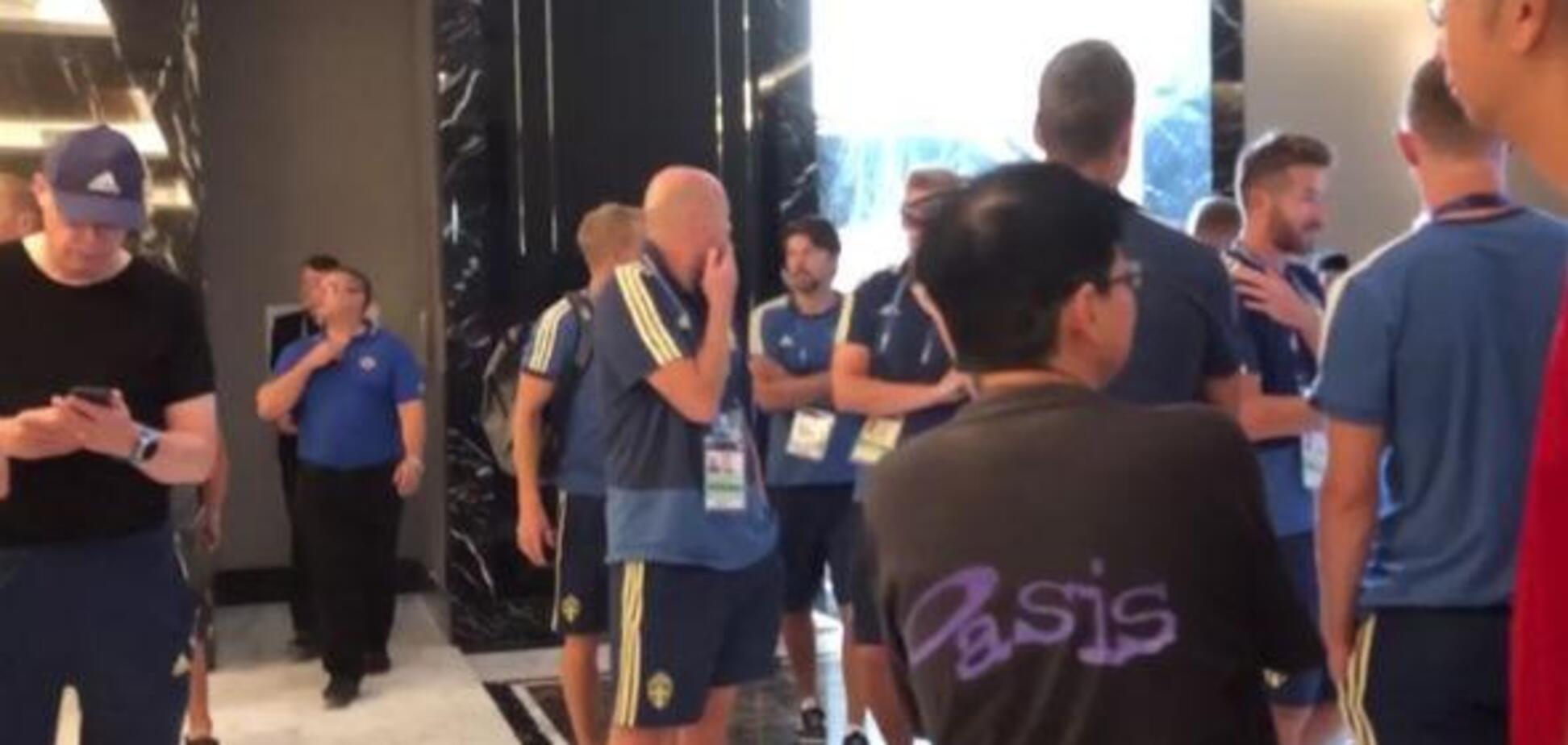 Збірну Швеції терміново евакуювали перед матчем з Англією