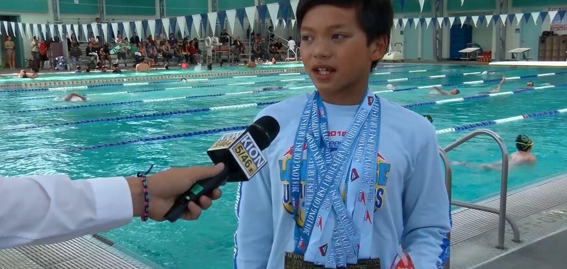 10-річний плавець побив рекорд олімпійського чемпіона