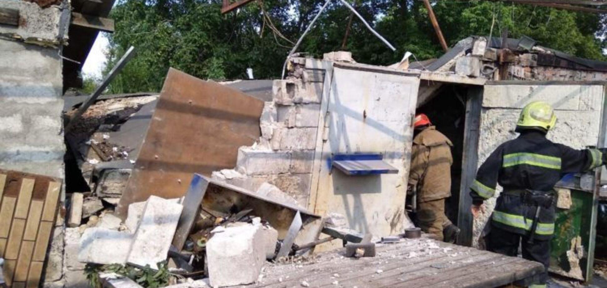 В Запорожье взорвался гараж, есть пострадавшие