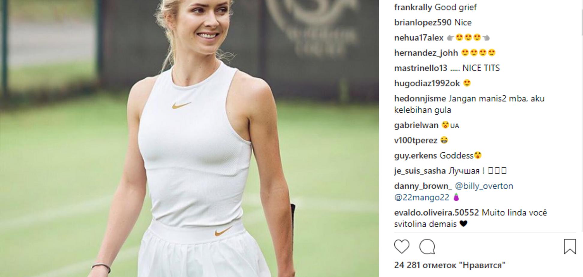 'Классные с*ськи': Свитолина вызвала восторг в Instagram