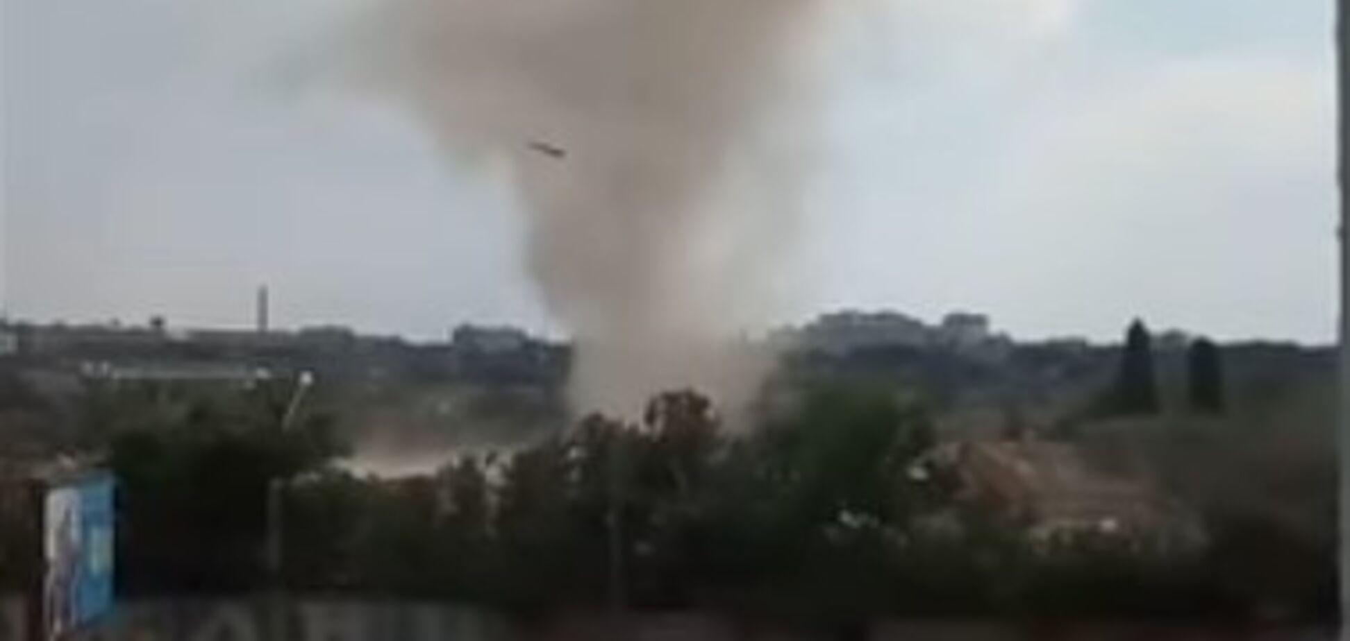 В Харькове зафиксировали смерч: устрашающее видео