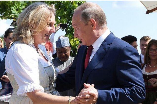 Путин на свадьбе у Кнайсль