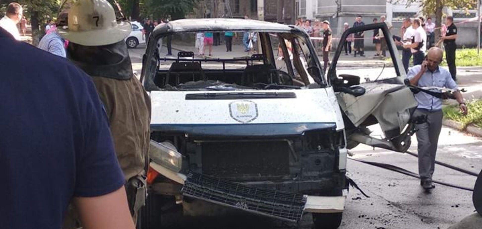 На Дніпропетровщині підірвали авто з депутатом: опубліковані перші фото і відео