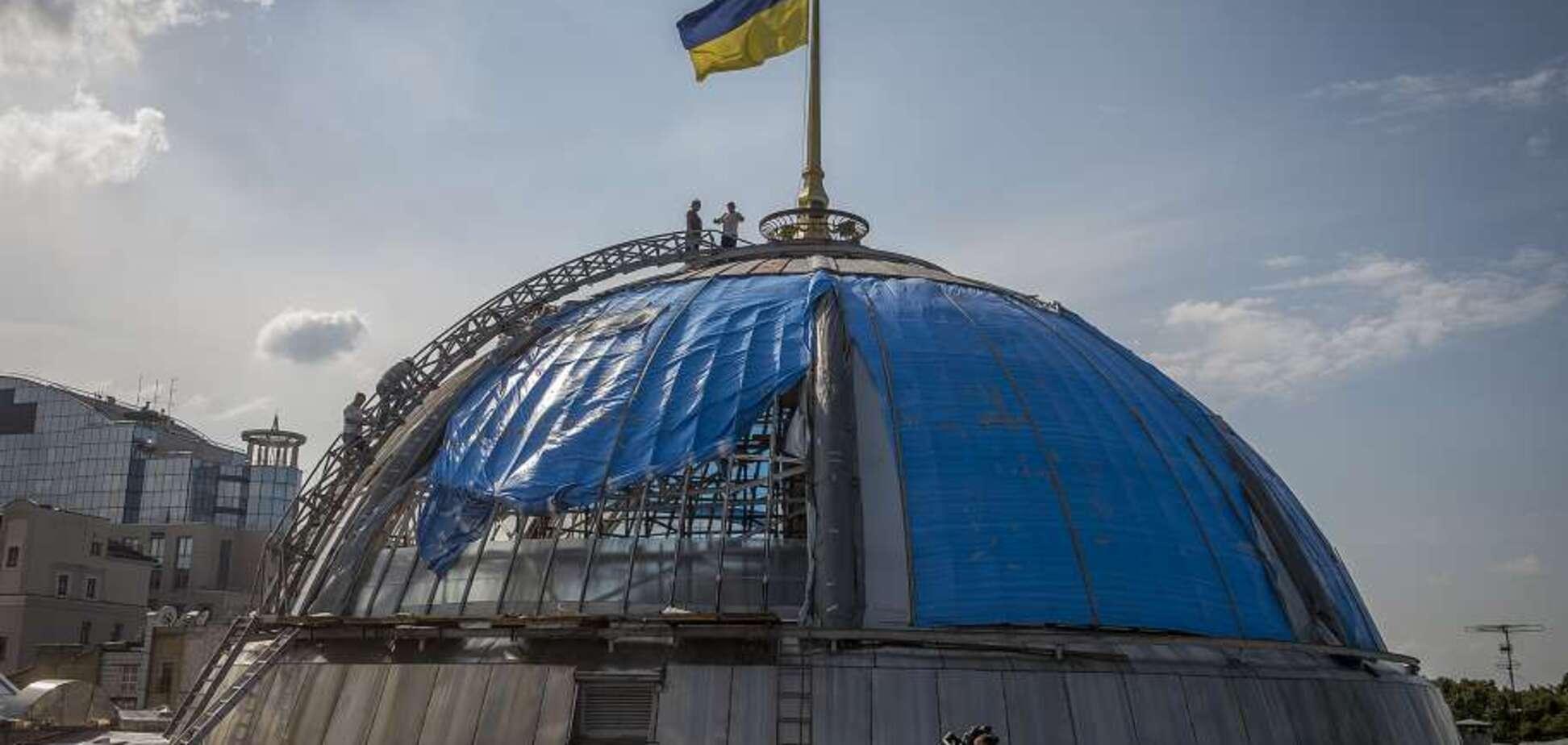 В Киеве затеяли ремонт купола Верховной Рады: во сколько это обойдется