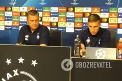 'С нами двое бразильцев': Хацкевич высказался о матче с 'Аяксом' в Лиге чемпионов