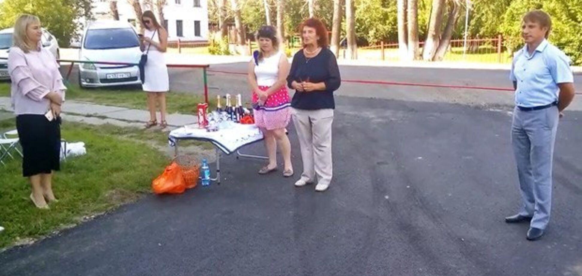 'Для них и это праздник': в сети высмеяли торжественное открытие асфальта в России