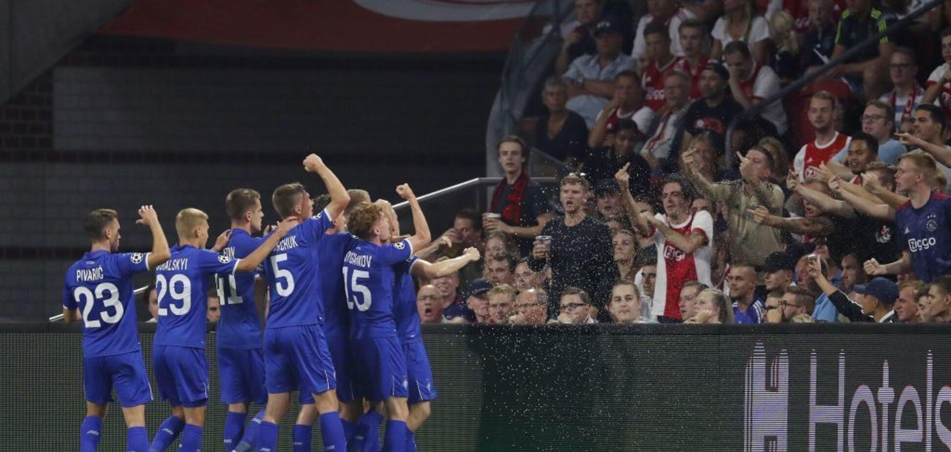 Футболист 'Динамо' получил в лицо от фанатов в матче с 'Аяксом' - опубликовано видео