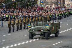 На параде впервые прозвучало 'Слава Украине'