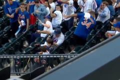 Отличная реакция отца спасла ребенка на матче - опубликовано видео