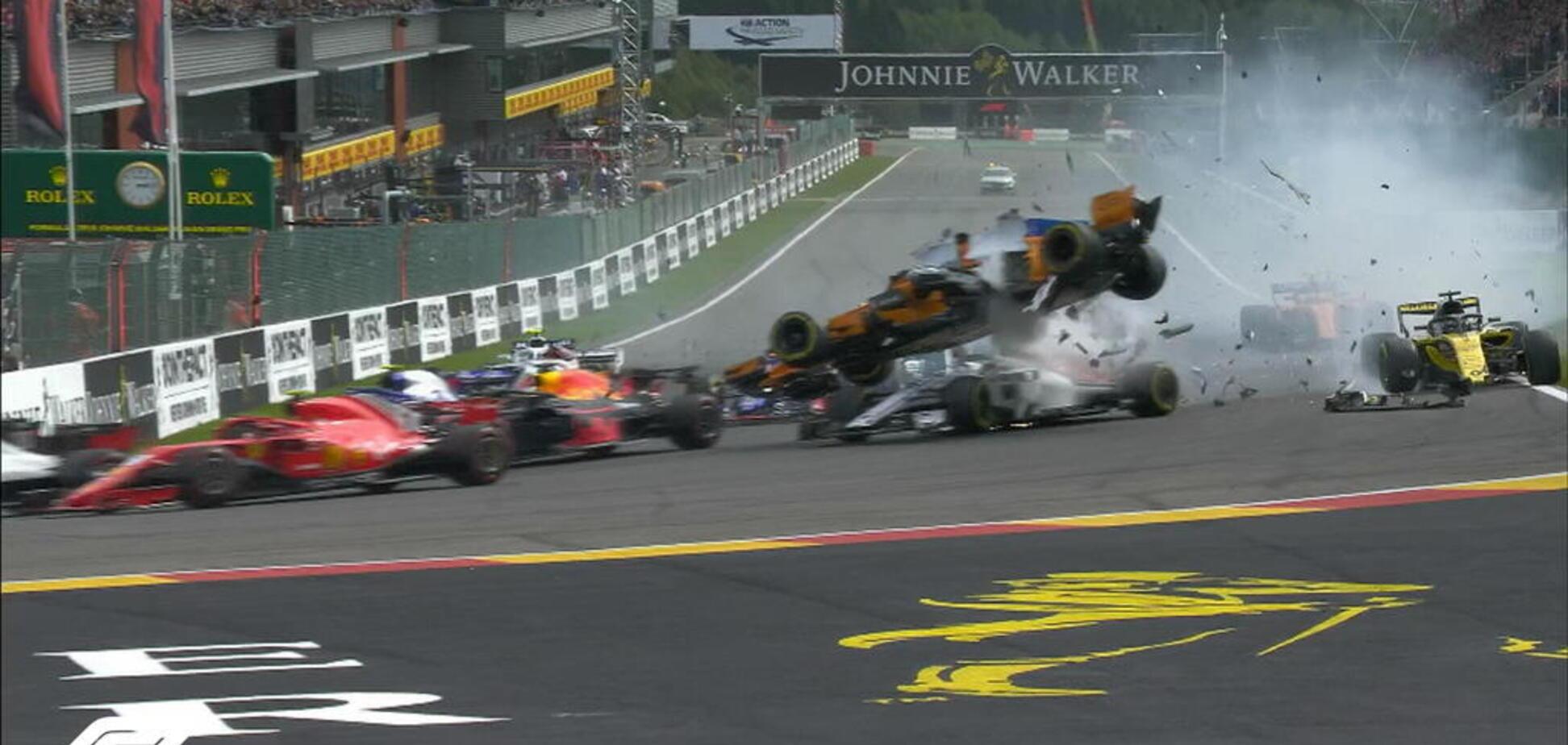 Гран-прі Бельгії ознаменувався жахливою аварією на старті