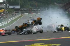 Гран-при Бельгии ознаменовался чудовищной аварией на старте