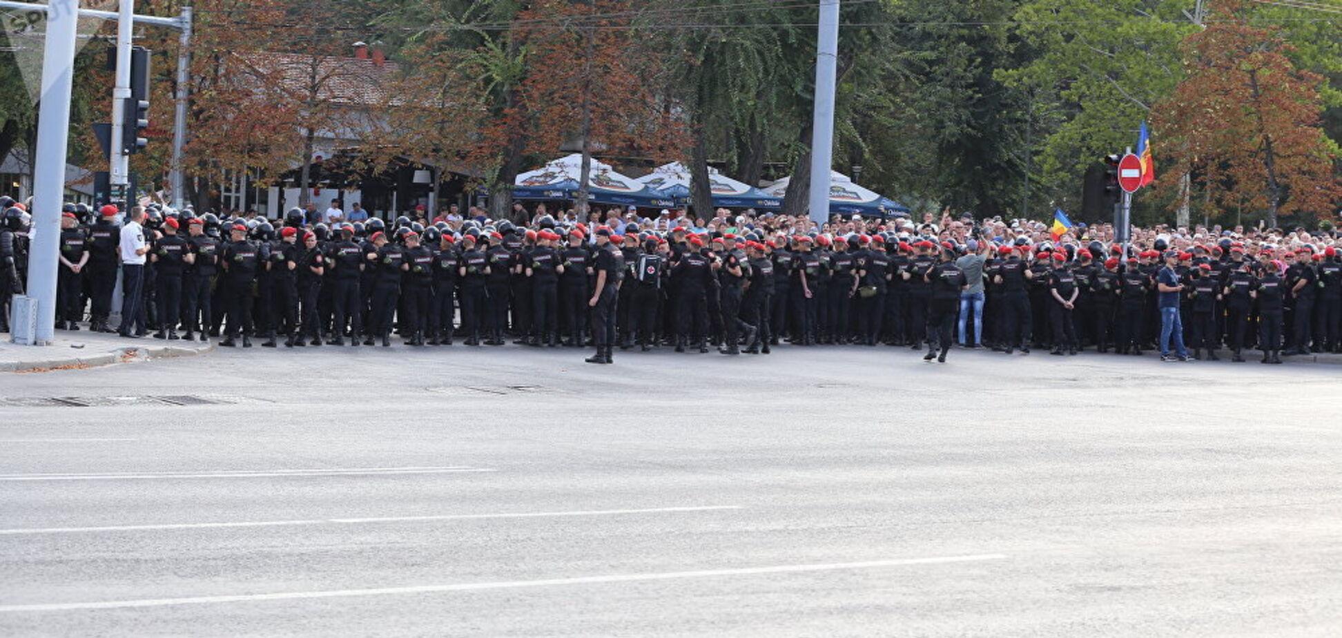 У Кишиневі поліція розігнала антиурядовий протест: усі подробиці