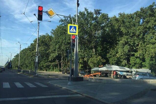 В Харькове заметили истребитель