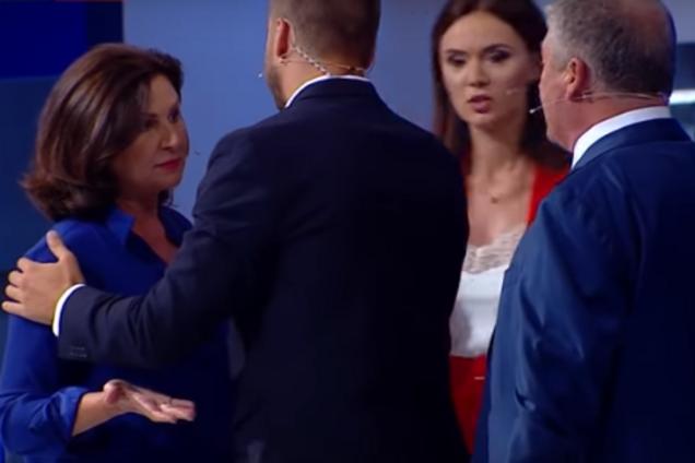 """""""Мерзавец!"""" Экс-нардепы подрались в прямом эфире: видео инцидента"""