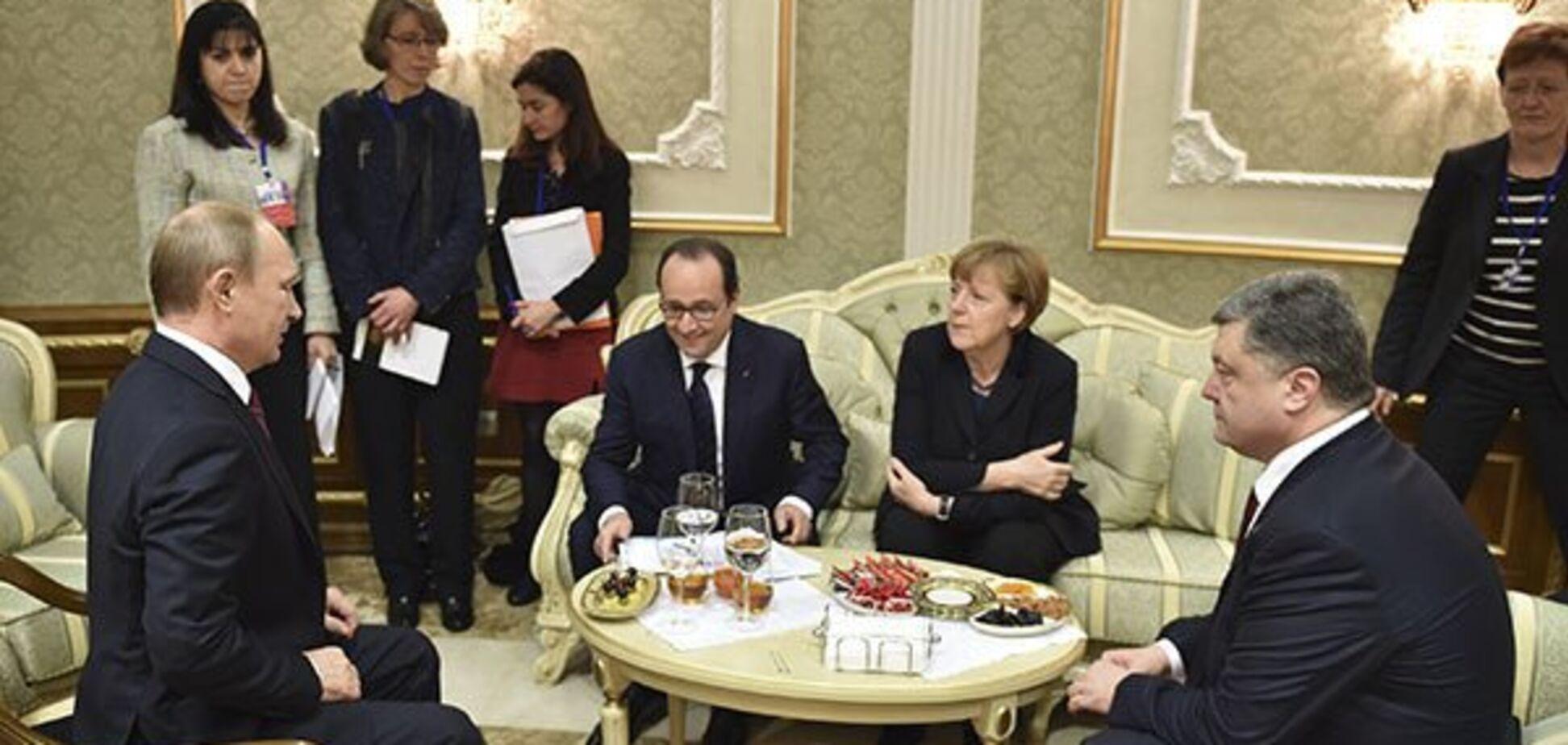 Путин психовал, а Порошенко затыкал ему рот: арбитром была Меркель
