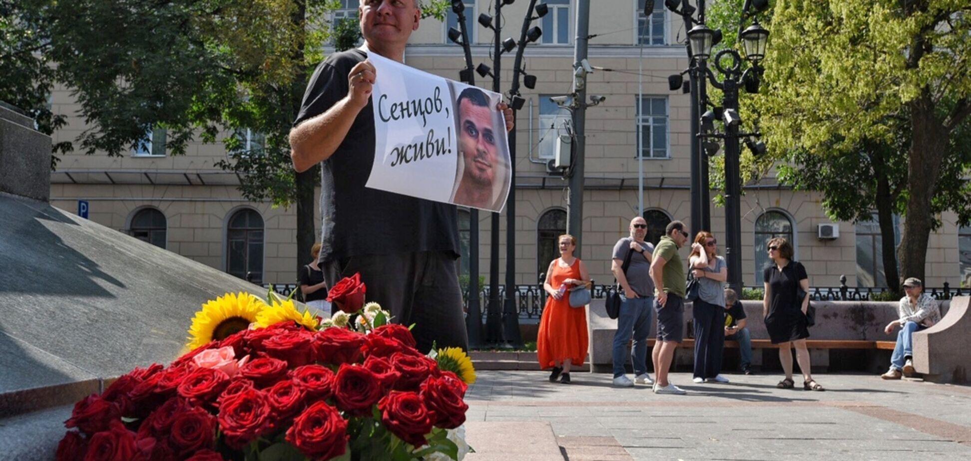 'Олежку, живи!' У центрі Москви пройшли пікети на підтримку Сенцова