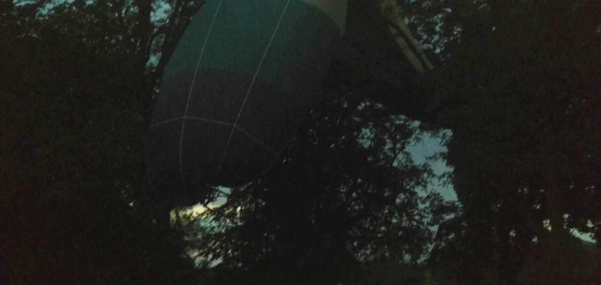 На Кіровоградщині розбилася повітряна куля: опубліковано відео