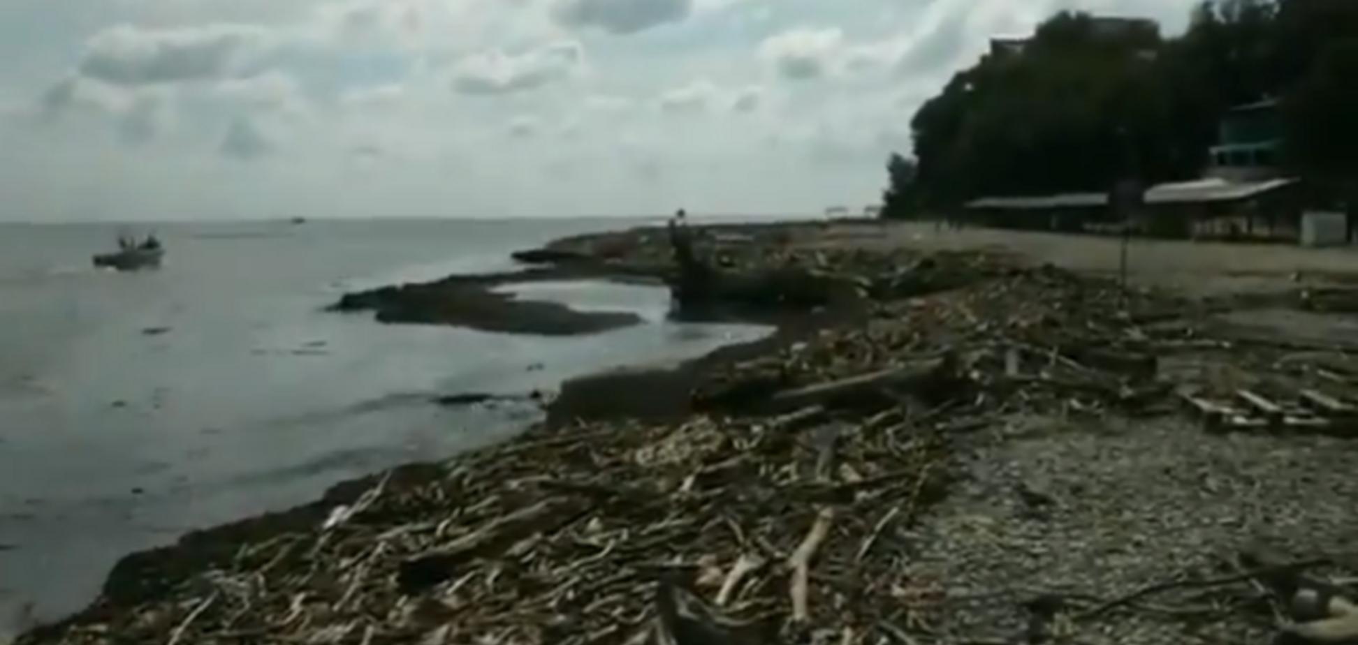 ''Путіне, введи прибиральників!'' У Росії жахнули відпочинком на пляжі-смітнику. Фото і відеофакт