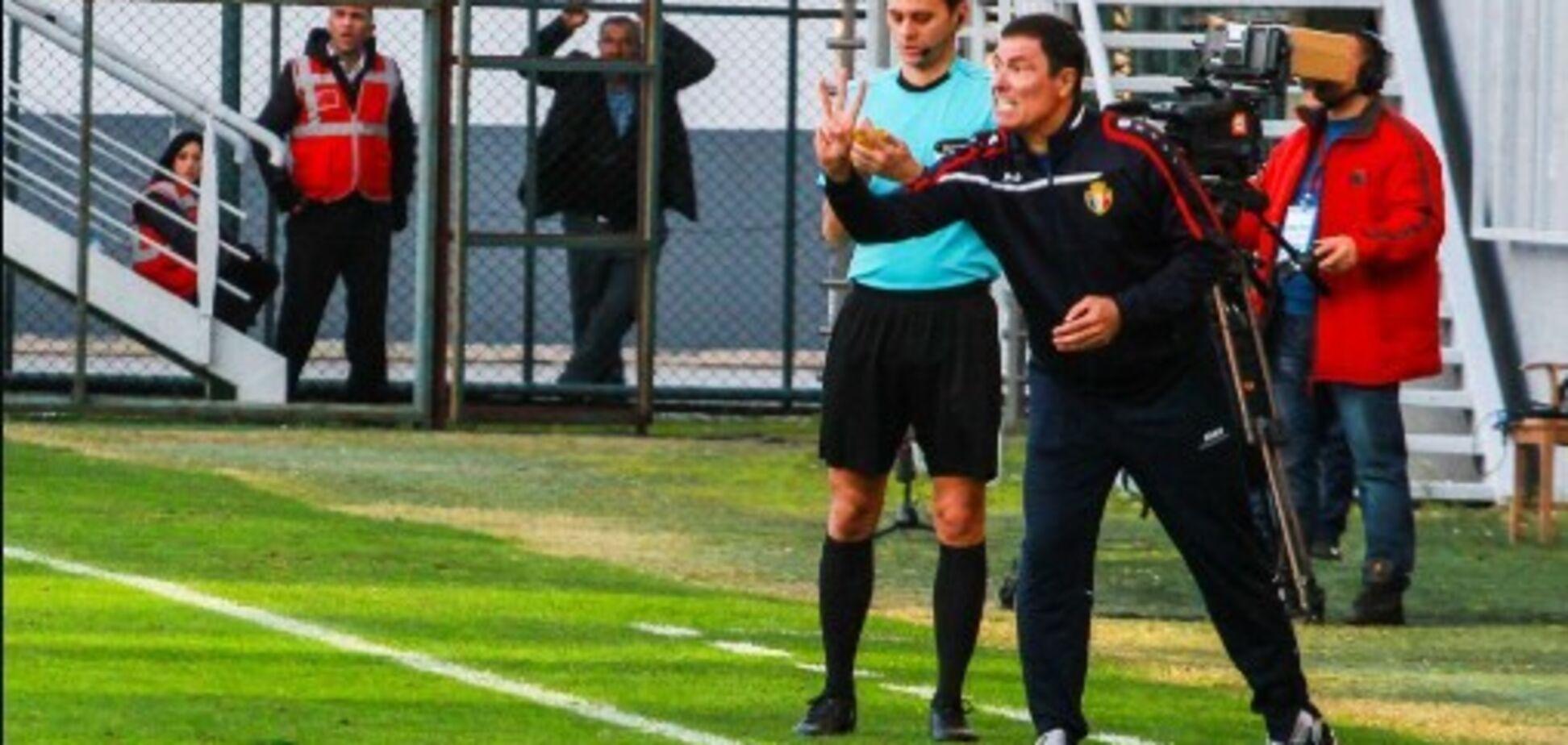 Экс-тренер 'Шахтера' оконфузился во время матча Лиги наций: видеофакт