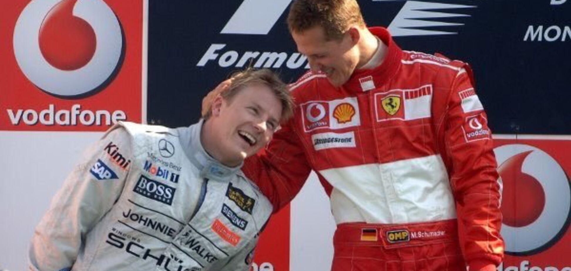 Династія: Шумахер вручив приз Райкконену за історичний рекорд Формули-1