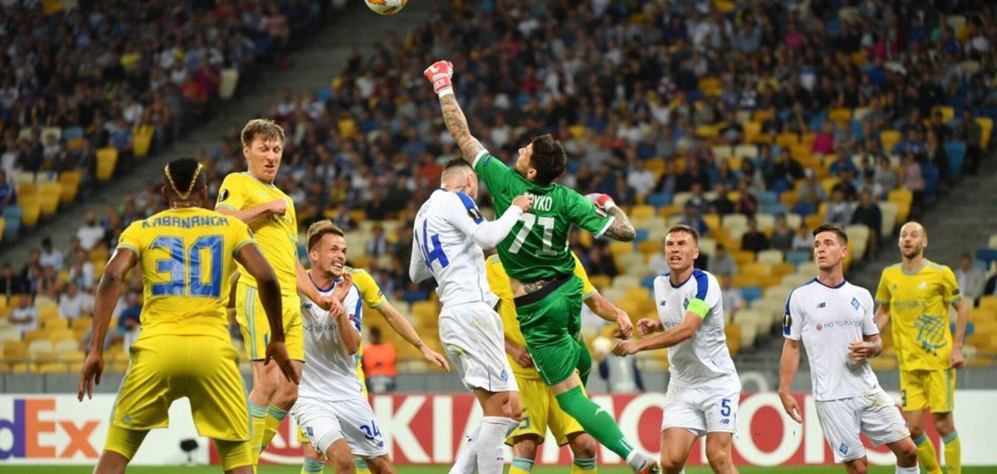 'Динамо' обидно упустило победу на старте Лиги Европы