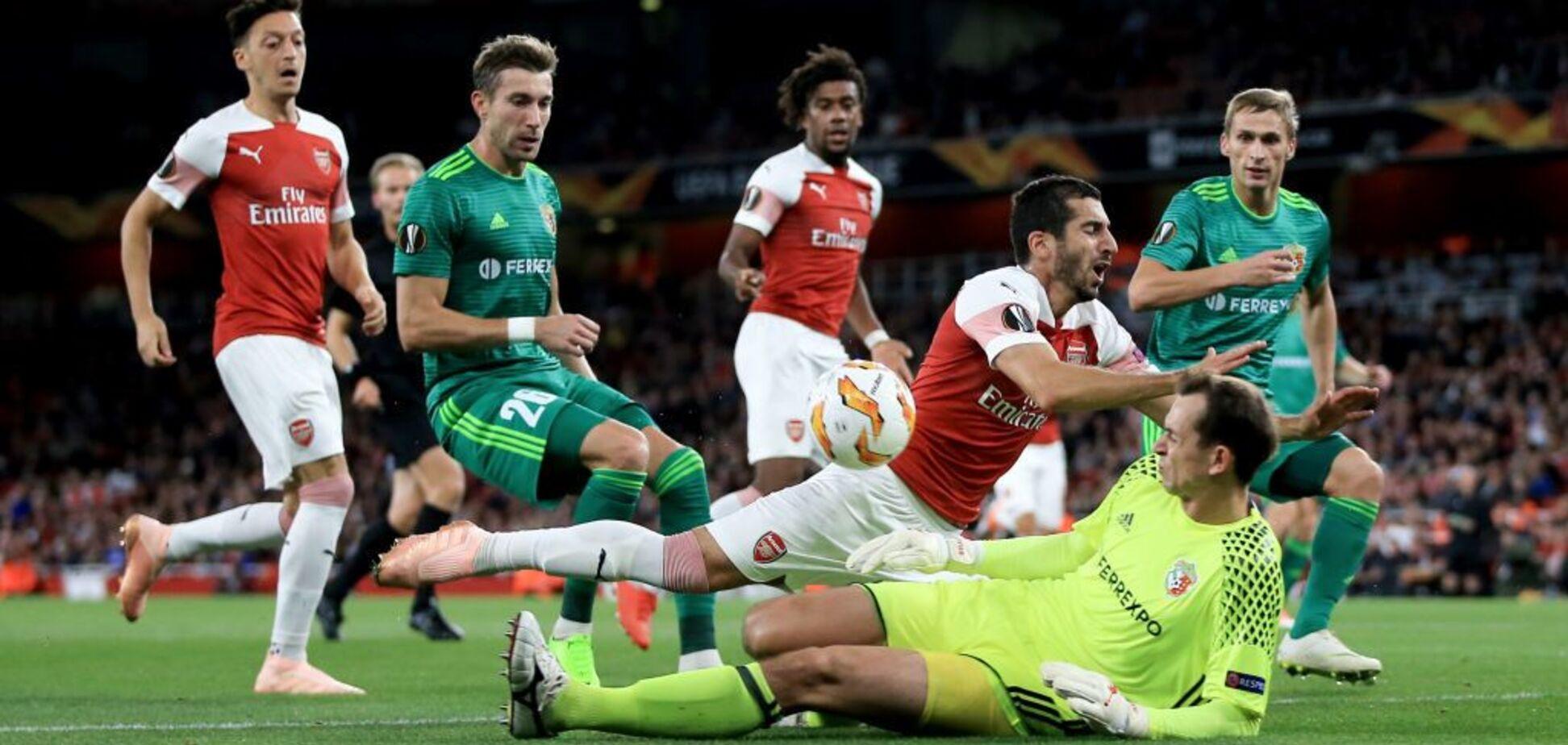 'Арсенал' – 'Ворскла': обзор матча Лиги Европы