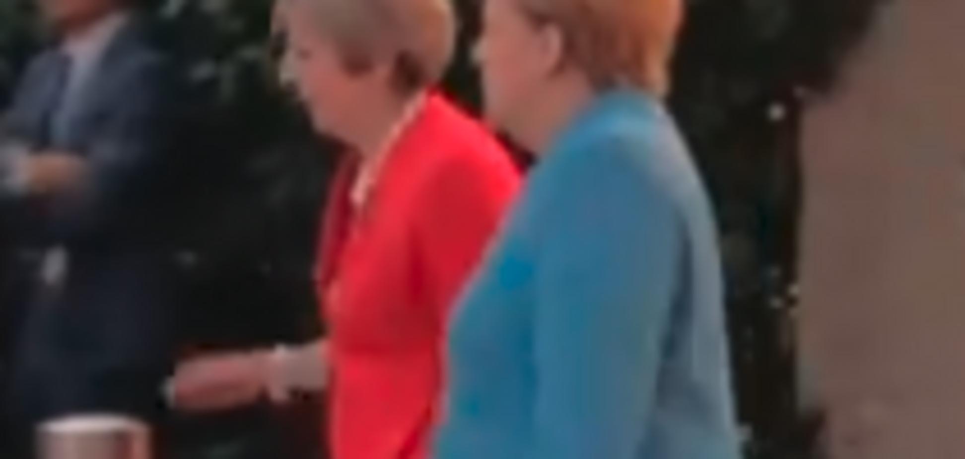 ''Унижение'' премьера Британии: появилось полное видео с Меркель