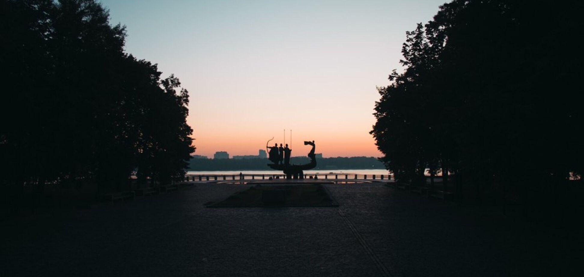 Появились красивые фото Киева на рассвете