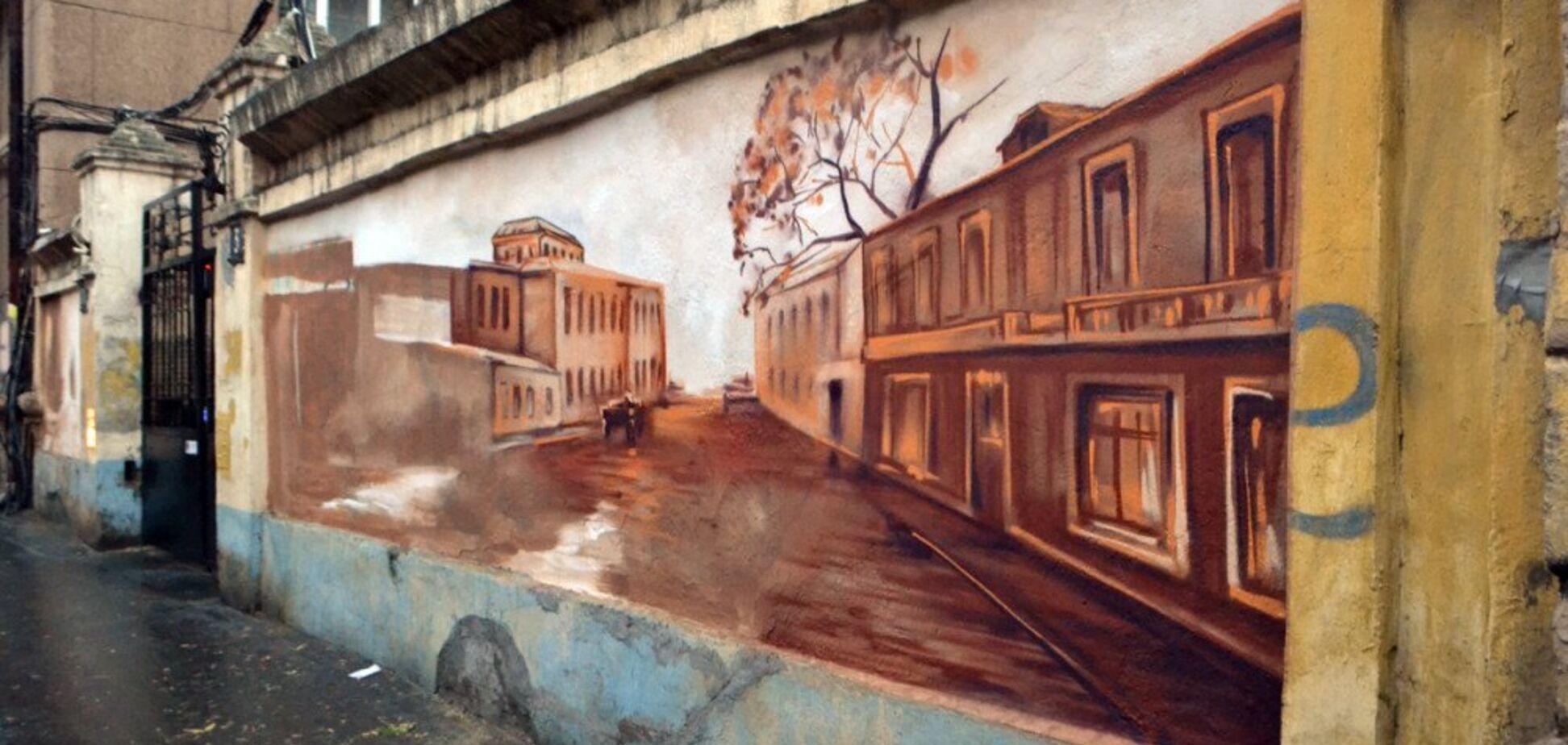В Одессе создают еще один мурал: фото стрит-арта