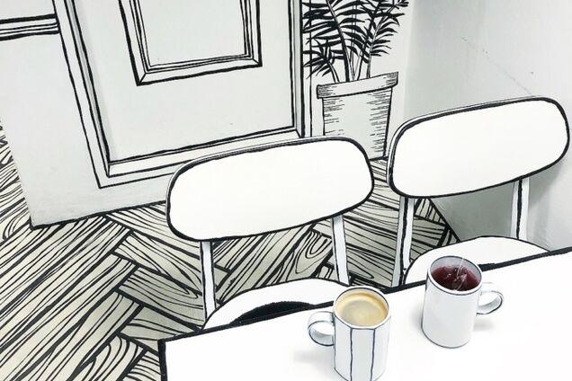 В Южной Корее открыли нарисованное кафе: фото